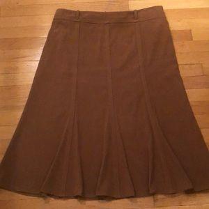 Dress Barn Sueded Flared Skirt-EUC